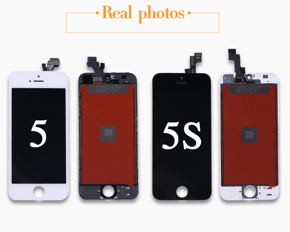 HTB1wbs3XUzrK1RjSspmq6AOdFXam Black/White Assembly LCD Display Digitizer for iPhone 6s AAA Quality LCD Touch Screen for iPhone 6 7 5s No Dead Pixel with Gifts