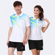 Free shipping badminton clothes man / woman sports sports match clothing tennis shirt T-shirt shorts suit (shirt + shorts / skir