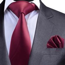GUSLESON солидный формальный галстук водонепроницаемый галстук Карманный квадратный набор бизнес Свадебный Классический Мужской Шелковый галстук 8 см корбаты Мода