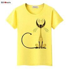 BGtomato super cool elegant cat t shirt women hot sale clothes lovely tshirt fashion top tees cool t-shirt Brand kawaii shirt
