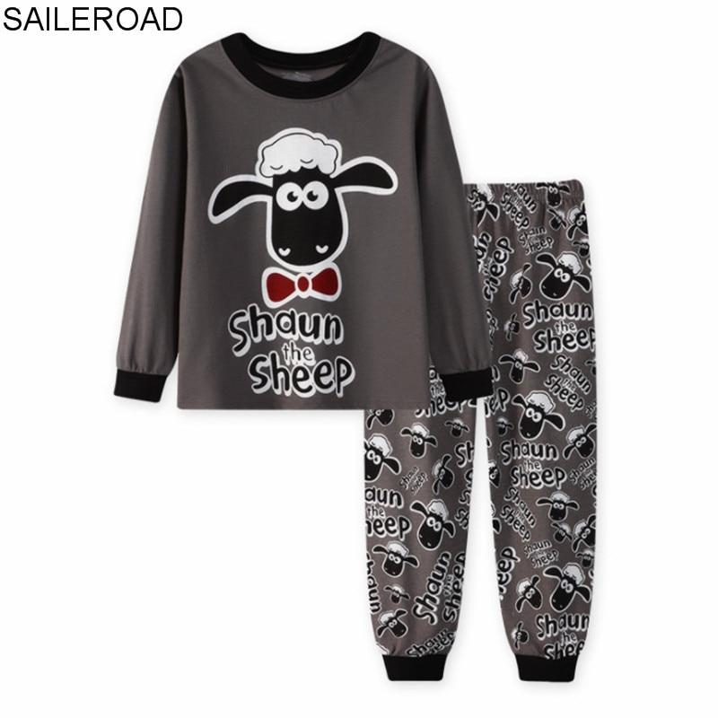 US $7 59 43% OFF|SAILEROAD Children Pajamas Cartoon Sheep Pyjamas Set Kids  Pijama Infantil Boys Nightwear Cotton Girls Long Sleeve Sleepwear Suit-in