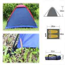 Two Person Outdoor Camping Tent  for Hiking Trekking Backpacking Fishing Three-Season Tent Polyester PU Coating Tourist Tent