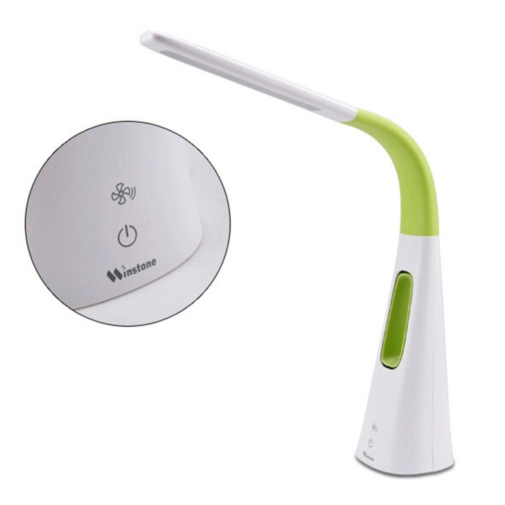 Lampe de Table Portable LED Dimmable Smart Touch USB lampe de bureau avec ventilateur conception lecture livre lumière DC 12 V