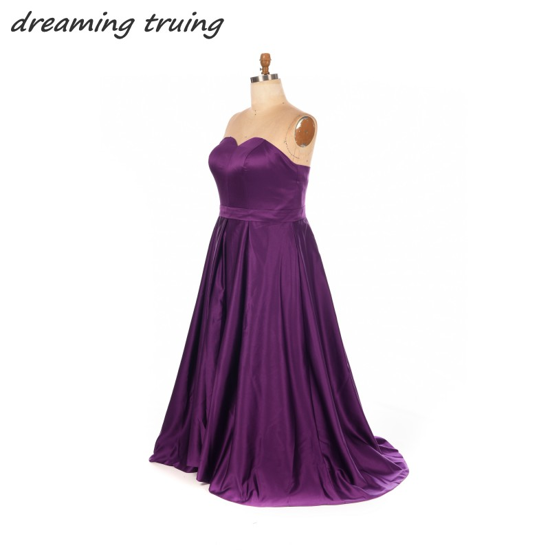 Plus Size Dark Purple Bridesmaid Dresses 2018 Cheap Long Backless ...