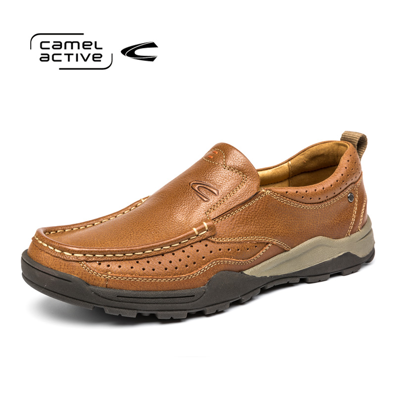 Camel Active Hot Sale Fashion Men Casual Shoes Comfortable Slip On High Quality Male Shoes Flat Breathable White Plus Size 38-44 hot sale fashion comfortable men casual shoes soft genuine leather high top zipper thick sole heighten man shoes size 38 44