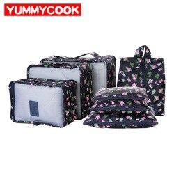 7Pcs/set New Women Clothes Underwear Storage Bag Travel Shoes Pouch Luggage Organizer Case Wholesale Accessories Supplies Stuff
