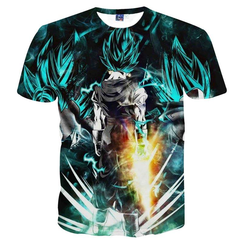 2017 New Japanese Anime T-shirts Women Men Dragon Ball Z Saiyan Tee Shirt BoyGirl Cartoon 3D Print T shirt Summer Tops Tees (1)