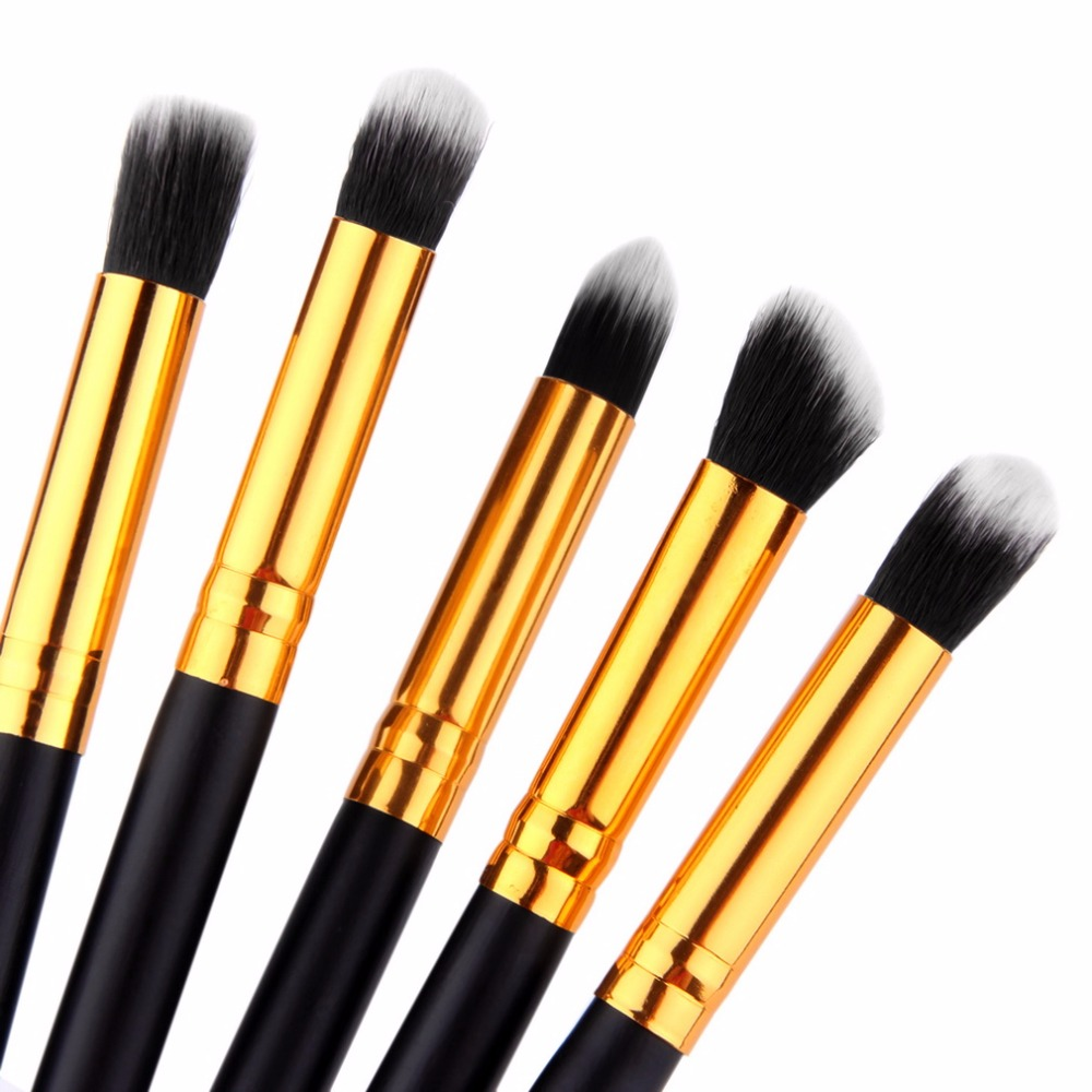 5 Pcs Pro Makeup Brushes Set Kits Cosmetic Make Up Tool Eyeshadow Foundation Blending Brush Wholesale new makeup 2017