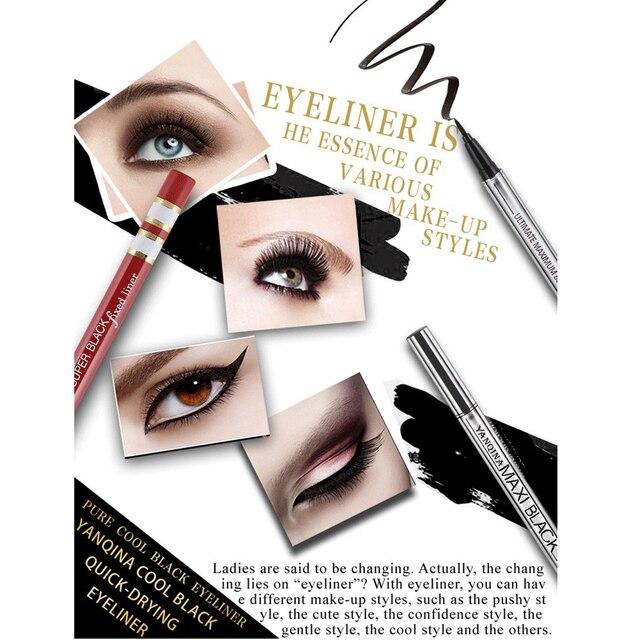 1 PC Gros Extreme Noir Étanche Maquillage Cosmétique Eyeliner Crayon Stylo Belle Utilisation Facile Outils De Mode de Femmes 4