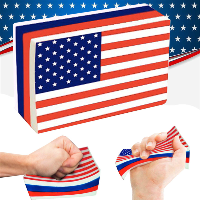 Squishies American Flag Slow Rising Cream Stress Relief Toys for 4th of JulySlow Rising Scented Relieve Stress Toy Gifts