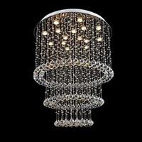 Modern atmosphere living room light bulb LED crystal bedroom lamp large hotel villa project chandelier for bedroom led lamps