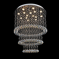 Modern atmosphere living room light bulb LED crystal bedroom lamp large hotel villa project chandelier for bedroom led lamps