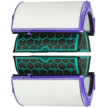 For Dyson Hp04 Tp04 Dp04 Sealed Two Stage Air Purifier Hepa & Carbon Filter Set