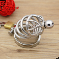 Male penis metal lock,cock,urethral plug/catheter,stainless steel,male chastity lock belt,small novelty cage.adult product