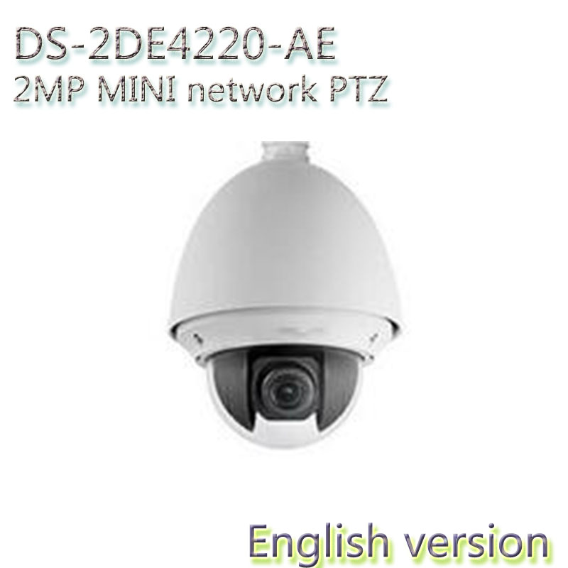 In stock Free shipping english version DS-2DE4220-AE CMOS 720P 2MP HD 4Xoptical hd speed dome mini ptz security camera english firmware ptz camera ds 2de7184 a 2mp hd 1080p ptz speed dome camera ip66