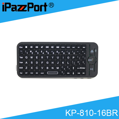 цена [Free Shipping] Original iPazzPort KP-810-16BR Mini Wireless Bluetooth Keyboard/Air Mouse with Sleeve for Apply TV