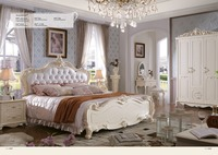 Cabecero Cama Promotion King Bedroom Furniture 2016 New Princess Soft Bed Continental Carved French Height Box Leather Prince