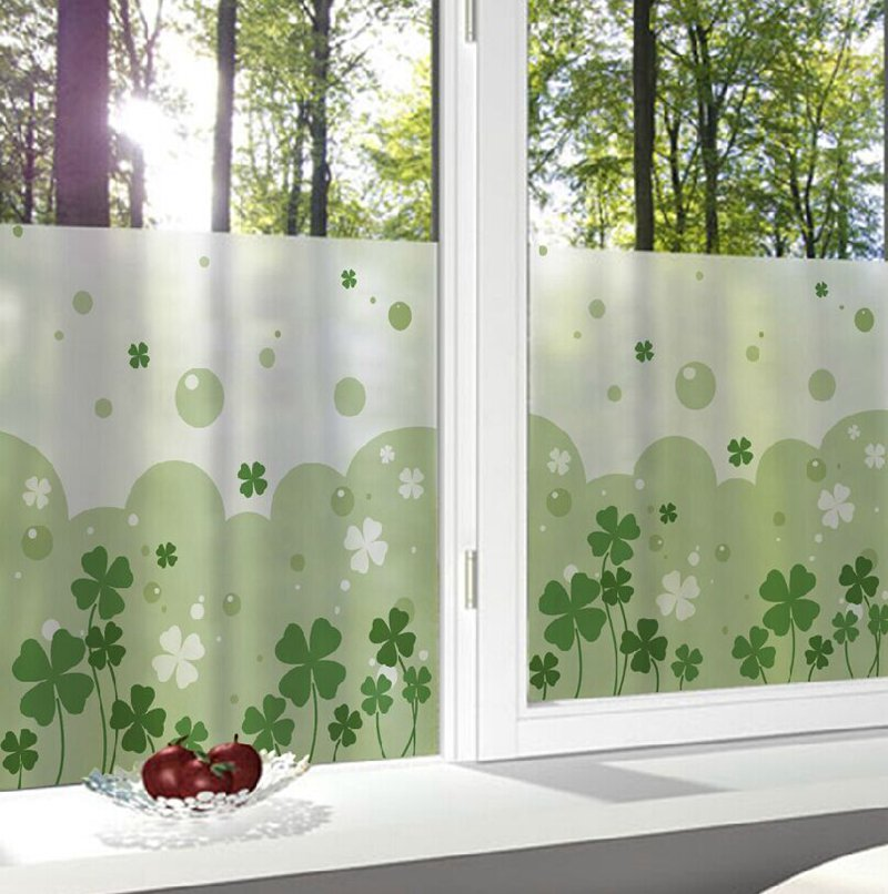 High Quality 15 Styles 40x40cm Lovely Frosted Glass Window Decorative Film Privacy Glass  Stickers Bedroom Bathroom Office Home Decor In Decorative Films From Home  ...