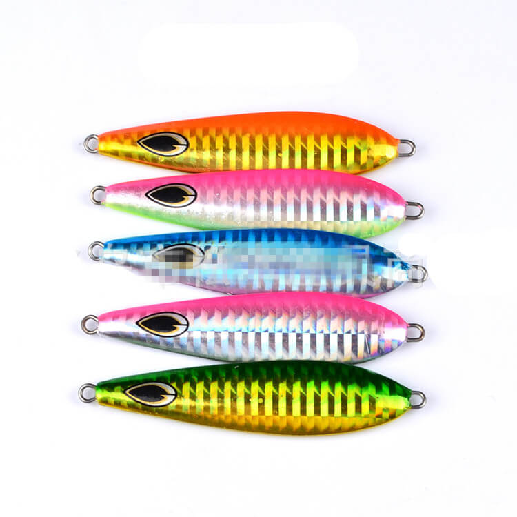 5pcs 35.5g/7.6cm Micro Jigs Metal Knife Jigs Bionic Bait Tuna Snapper King Fish Lures Slow Lures Jigs Crankbait Swimbait Sea Ice