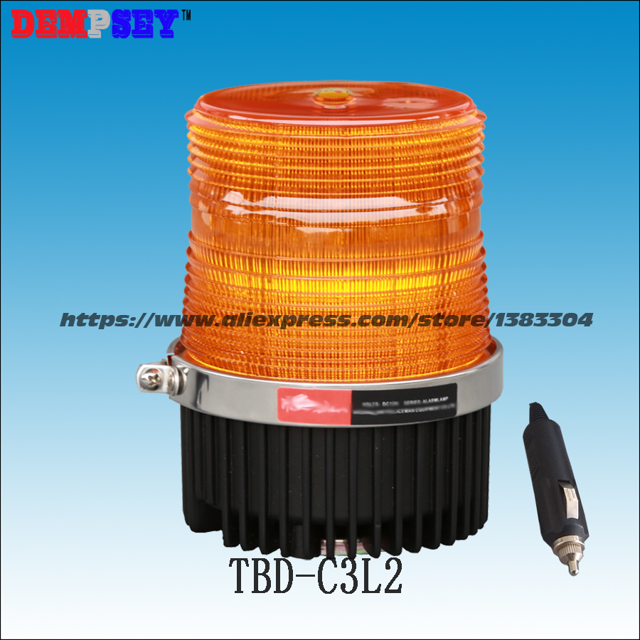 Dempsey LED Strobe Beacon Amber Light,DC12/24V, Car-Styling Vehicle Police Warning Light LED Flashing Emergency Light(TBD-C3L2) dempsey police strobe light led strobe lights emergency warning light for truck led strobe beacon with magnet red blue tbd c3l5