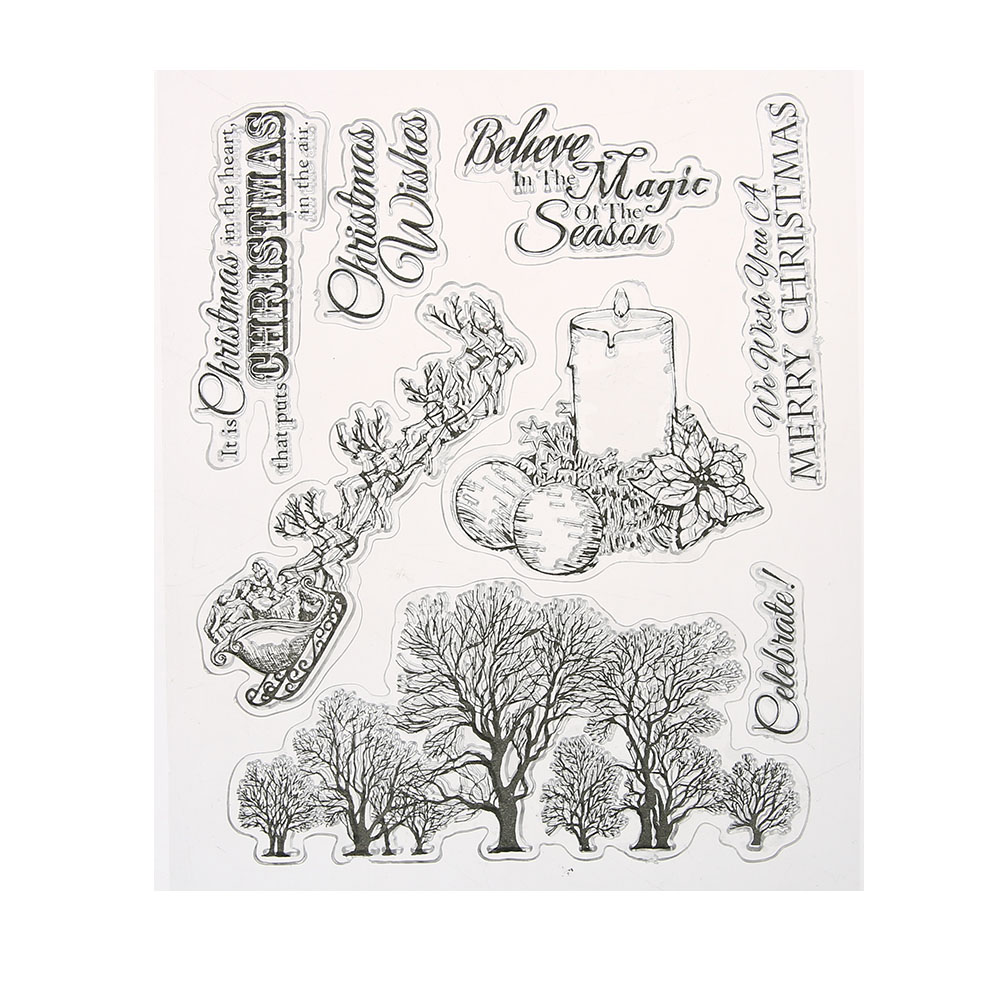 Christmas Wishes Transparent Clear Silicone Stamp/Seal for DIY scrapbooking/photo album Decorative Clear Stamp Sheets chicken animals transparent clear silicone stamp seal for diy scrapbooking photo album decorative clear stamp sheets a547