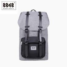 Мужской водонепроницаемый рюкзак из ткани Оксфорд, серый вместительный дорожный рюкзак, 8848