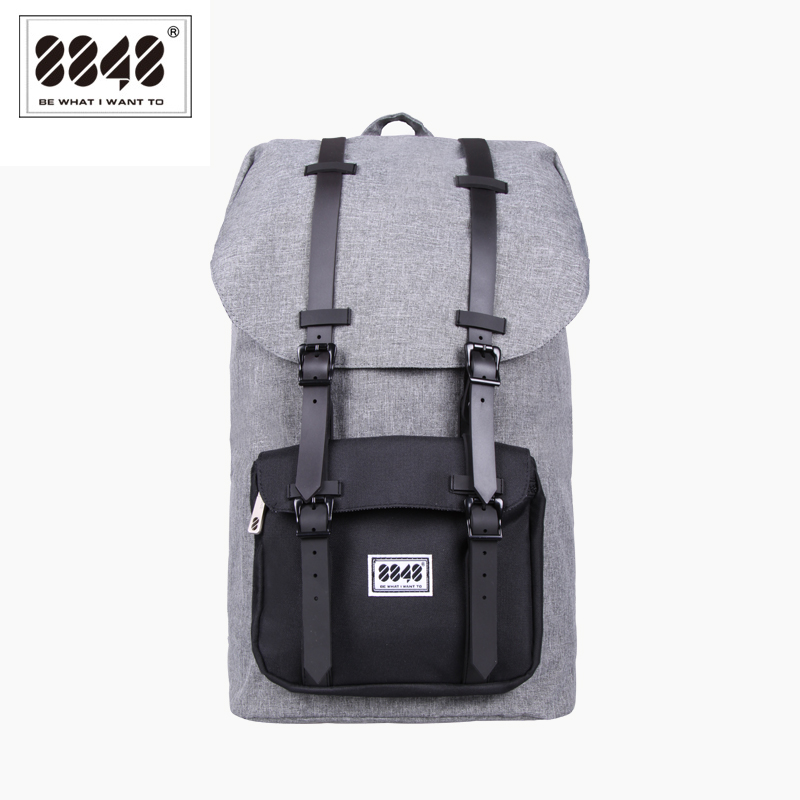 8848 Fashion Men Backpack Large Capacity Gray Travel Bag Real Waterproof Oxford Material Pattern Backpack Backpacking S15005-13