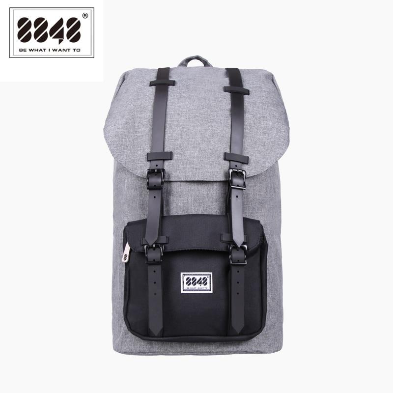8848 패션 남자 배낭 대용량 회색 여행 가방 진짜 방수 옥스포드 재료 패턴 배낭 배낭 S15005-13