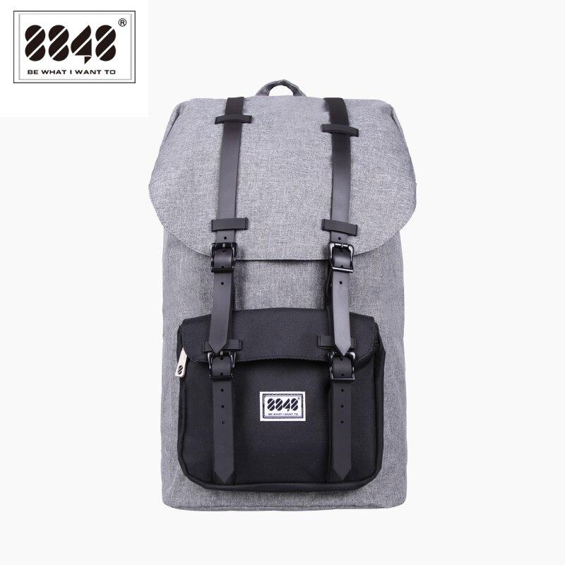 Mochila para hombre de moda 8848, bolsa de viaje gris de gran capacidad, mochila de Material Oxford impermeable Real, mochila S15005 13-in Mochilas from Maletas y bolsas    1
