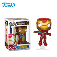 Official Original FUNKO POP! Official Marvel IRON MAN 1pcs Child Birthday Wedding Gift Vinyl Doll Collection Model Toys