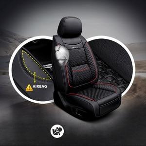 Image 5 - Car Believe Funda de cuero para asiento de coche, para mitsubishi pajero 4 2 sport outlander xl asx, accesorios, lancer, cubiertas para asientos de vehículos