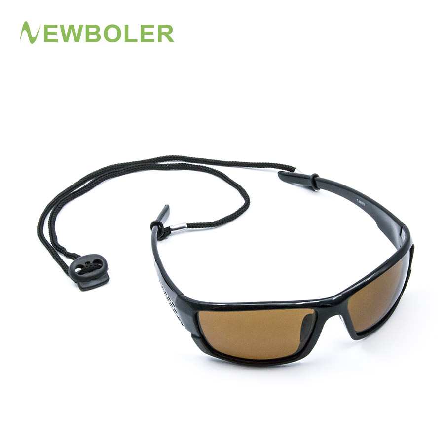 NEWBOLER Polarized Fishing Sunglasses Brown Yellow Lenses Night Version Men Glasses Outdoor Sport Driving Cycling Eyewear UV400