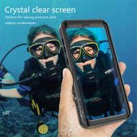 360 Protection complète étanche sac téléphone étui pour samsung Galaxy note 9 8 S8 S9 Plus S10 Plus coque natation housse de plongée