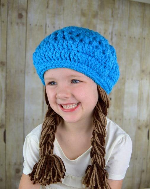f6ca4641765 Baby Girl Hats Baby Hat Kids Spring Crochet Hat Girls Crochet Hat Toddler  Hat Fall Hat braid girls hats kids fall toddler gift