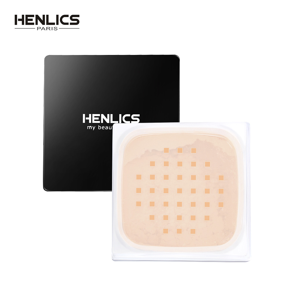 HENLICS Finishing Makeup Loose Powder Palette Foundation Face Banana Powder Oil Control Primer Setting Powder with Puff