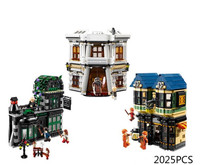 New Movie scenes Harry Potter The Diagon Alley Model Building Blocks Toys Bricks For Children Compatible with 10217 Le