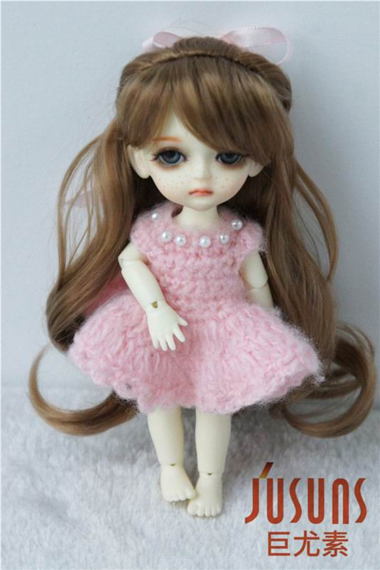 JD323 1/8(13-15CM) synthetic mohair doll wigs 5-6 inch Lati yellow doll complex braid princess BJD doll hair jd145 msd synthetic mohair doll wigs 7 8inch long curly bjd hair 1 4 doll accessories