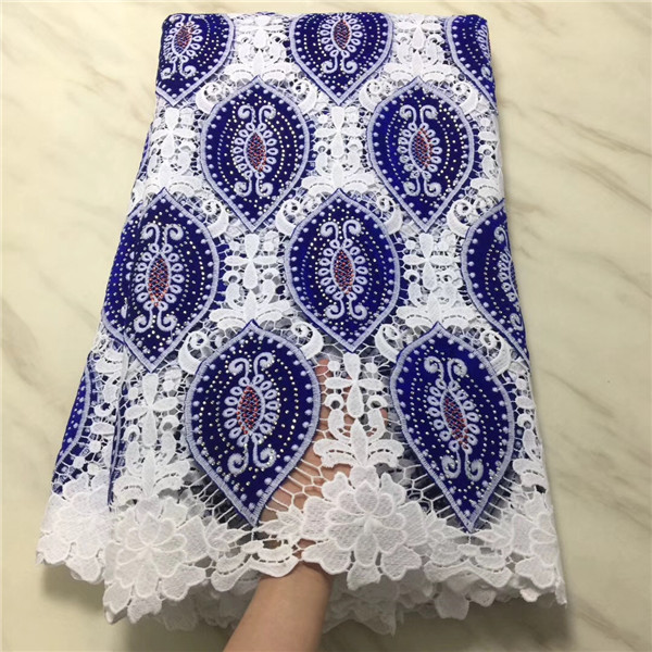 2019 high quatily african fabrics velvet lace fabric with stones soluble lace lace fabric for nigeria