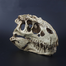 Высокое качество смолы искусственный имитированный t-rex череп из окаменелости 16*9*12 см для аквариума аквариум гусеничный ящик украшения орнамент