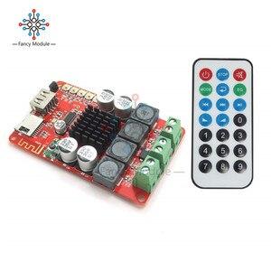 Модуль Bluetooth приемника TPA3116, 50 Вт + 50 Вт, цифровая плата аудиоприемника, tf-карта, u-диск, плеер, FM радио, с пультом дистанционного управления