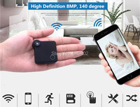 Super Mini in Hand Wifi IP Camera Recoder Build in Lithium Battery Support TF Card Storage
