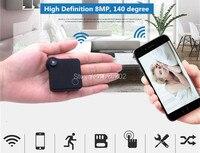 Super mini mano WiFi IP Cámara recoder construir-en la batería de litio soporte TF tarjeta de almacenamiento
