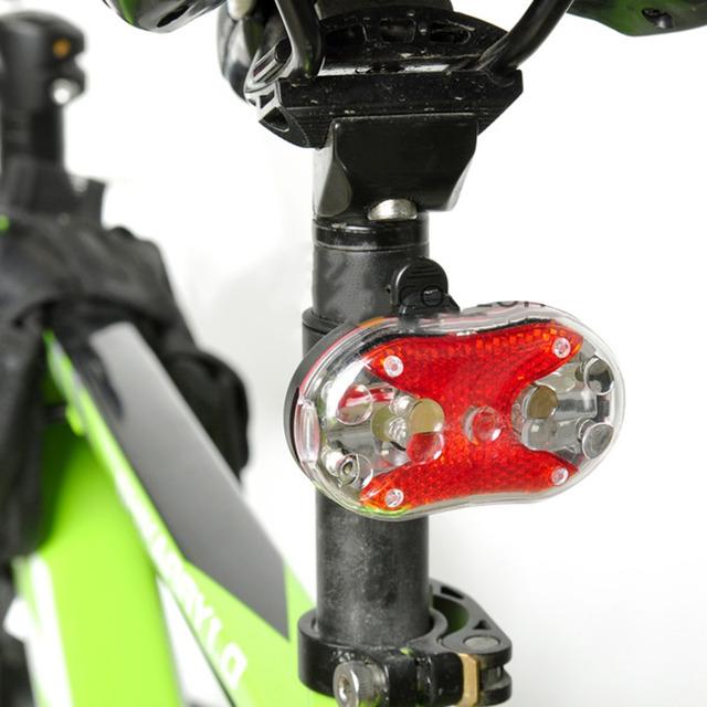 New Bike Lights Kit Bicycle Head Light Torch Tail Light Black Mount free shipping