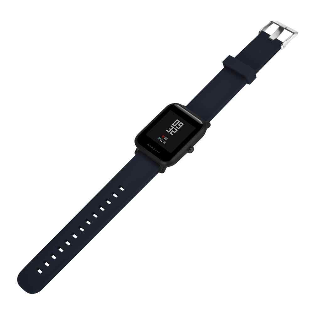 20mm אוניברסלי החלפת הסיליקון שעון צמיד רצועת Band Smartwatch עבור Xiaomi Amazfit ביפ עבור WeLoop היי 3 s עבור ticwatch2