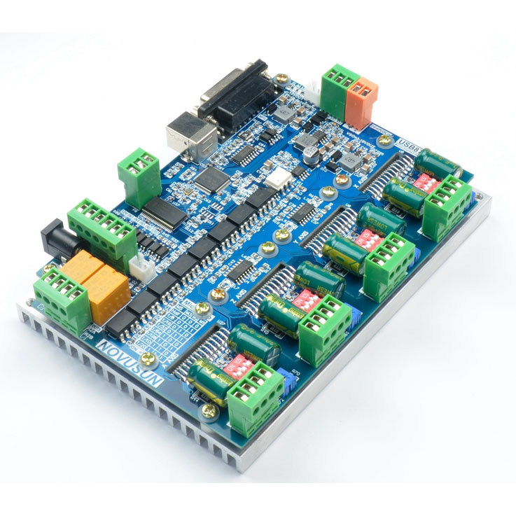 USB8727T4 USB MACH3 4Axis CNC controller with drive all in one 200KHZ 4-way stepper motor drive for 0-4A d74ha0 4a is a d74ha0 4a c d74ha0 4a b d all new drive strip module
