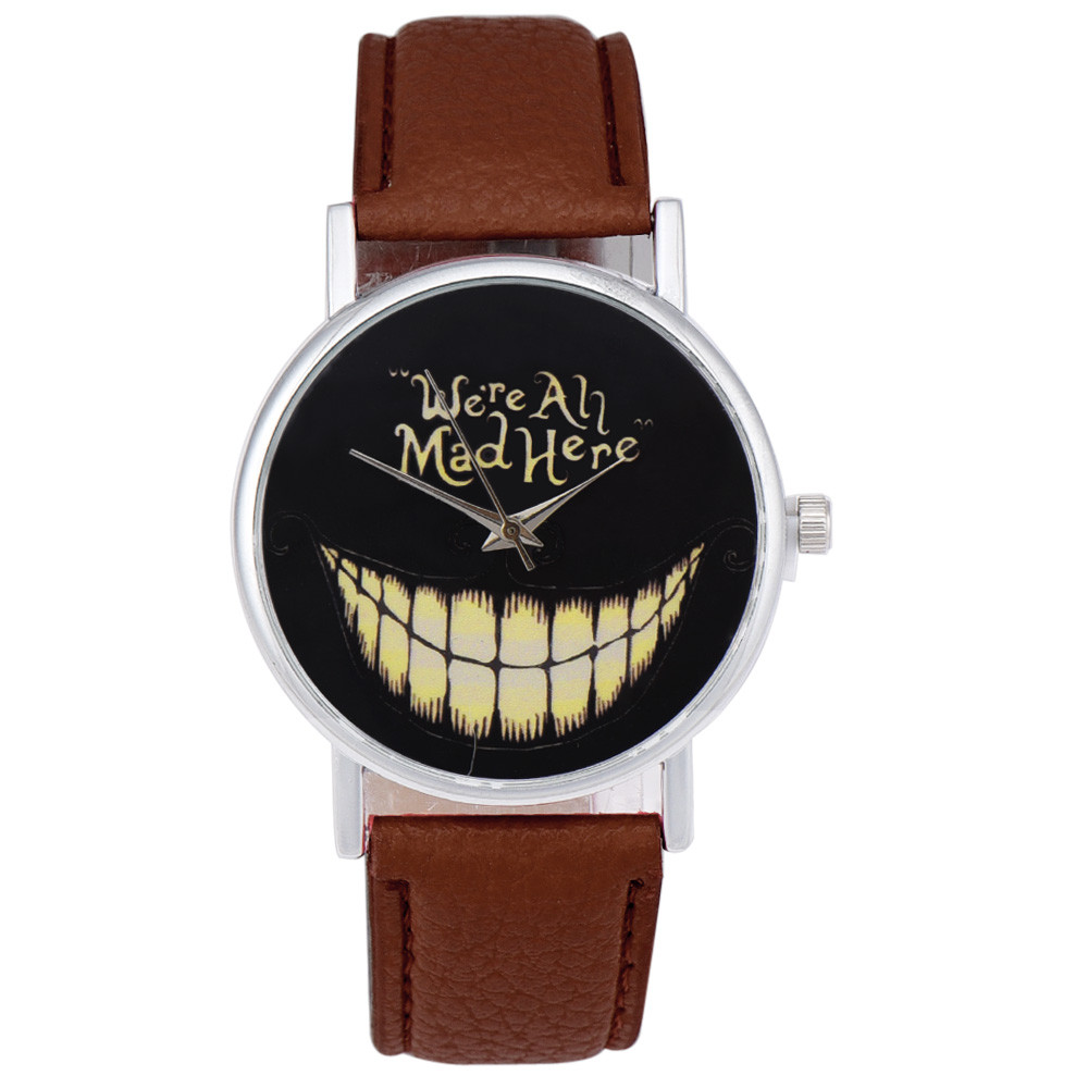 2017 Smiling Face Quartz Leather Casual Watch 2016 Hot Silicone Strap Casual Sport Watches Men Luxury Brand  relogios masculino