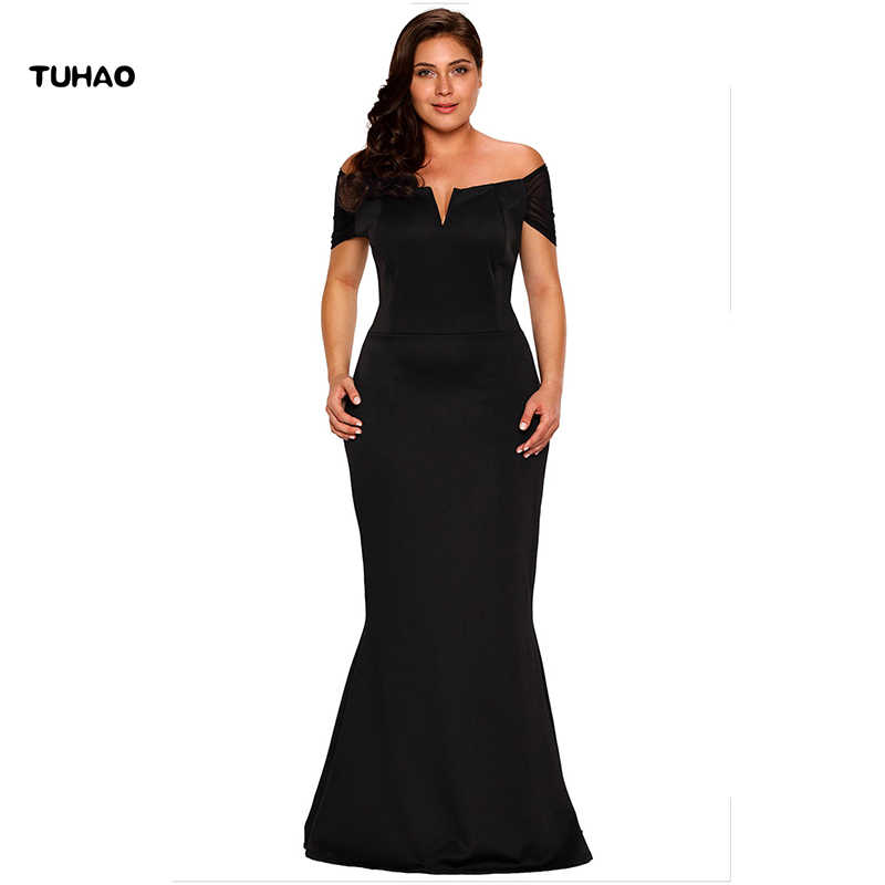 TUHAO 2017 plus size 2XL 3XL women maxi party dress long dress lace sleeve  floor length 701ad2bcf229