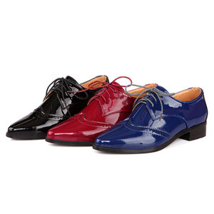 Image 5 - Fanyuan 2019 אביב נשים אוקספורד נעלי ניטראלי מחודדת מוצק צבע תפירת דירות מבוגרים משרד ליידי בטיחות עבודה נעליים