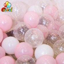 20 штук 12 дюймов латексные воздушные шары с принтом «Звезда», прозрачный розовый Золотой шарики для свадебного украшения Baby Shower День рождения принадлежности, домашний декор