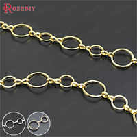 (21498)1 Meter 12MM+8MM Round Closed Rings Link Chains Brass Chains Handmade Necklace Chains Diy Findings Accessories Wholesale